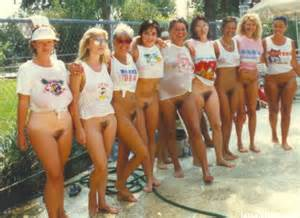 Old School Public Hair Bottomless Flashers