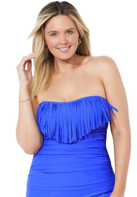 Plus Size Fringe Swimsuit