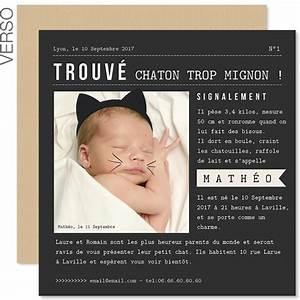 Quoi Offrir Pour Une Naissance : 8 mod les de faire part de naissance ~ Melissatoandfro.com Idées de Décoration