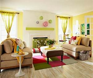 33 colorful and airy spring living room designs digsdigs for Ideas to separate a sectional sofa