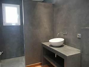 realisations beton cire ibeton With salle de bain en dur