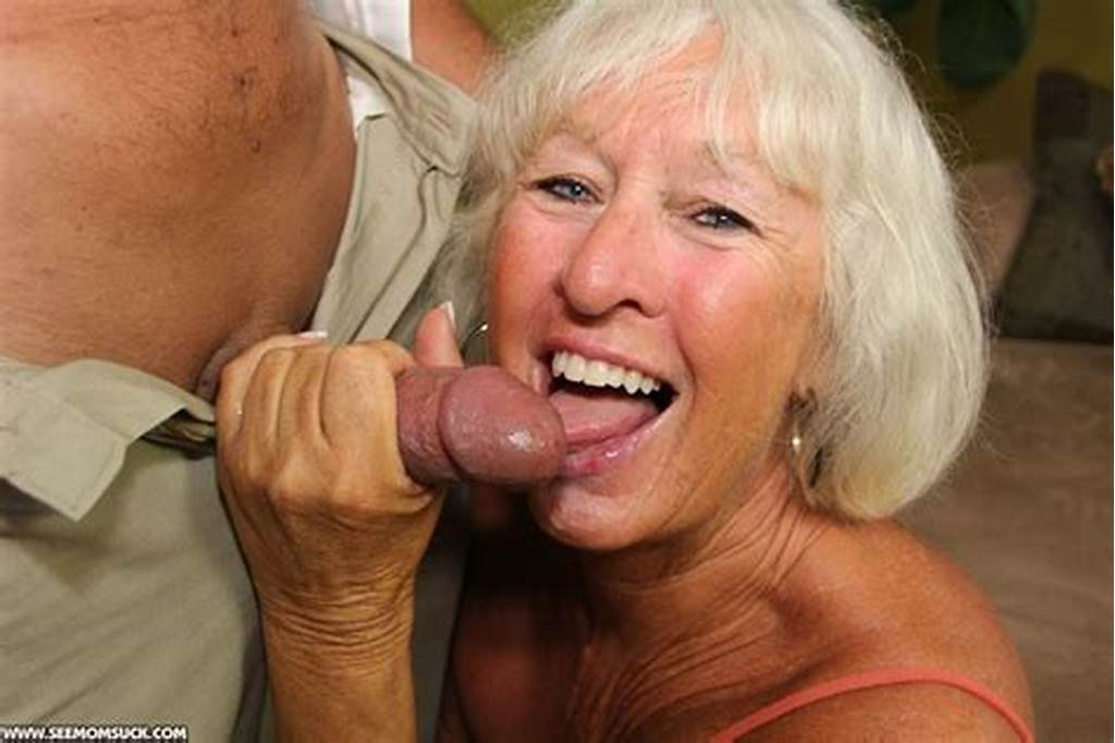 #Swarthy #Old #Granny #In #An #Orange #Top #Sucking