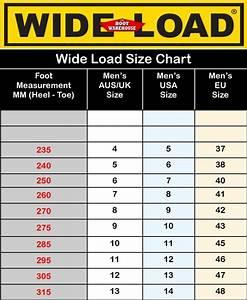 Blundstone Boots Size Chart Sizing Charts