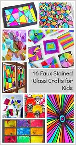 16 Faux Stained Glass Crafts for Kids | Faux stained glass ...