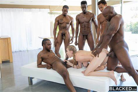 University Bombshell Gangbanged By Threesome Ebony Cock