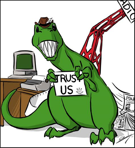 """Want to discover art related to cartoon_dino? Cartoon: """"Dino Press"""" - The Independent 