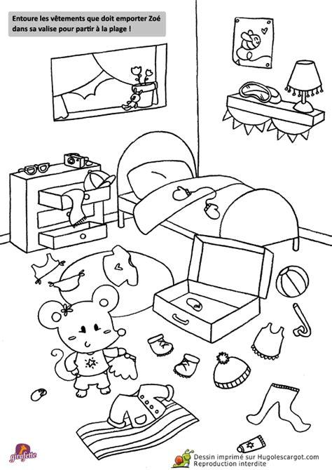 dessin de chambre coloriage chambre sur hugolescargot com