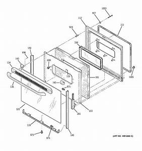 Ge Model Jbp23dn1ww Free Standing  Electric Genuine Parts