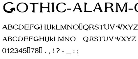 See our meme of the day! Gothic Alarm Clock Font : pickafont.com