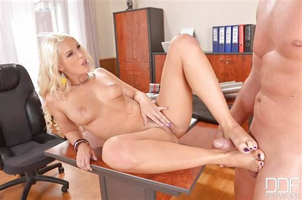 #Tasty #Office #Worker #Blanche #Bradburry #Gives #Footjob #And