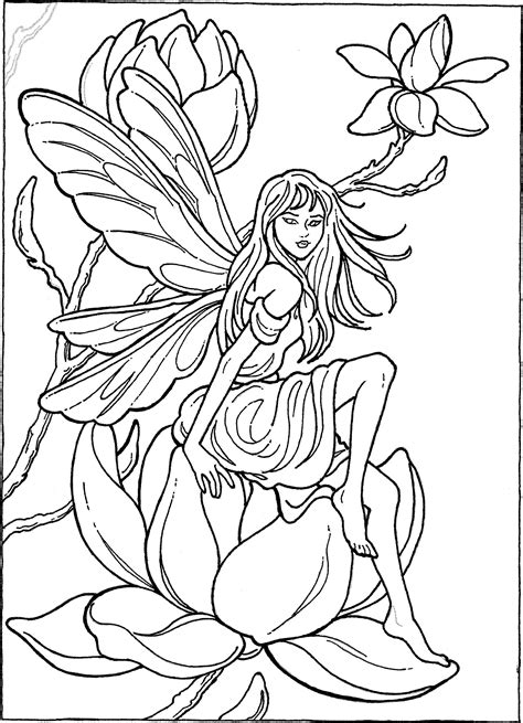 Fairy Coloring Page Fairy coloring pages Fairy