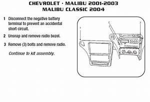 2004 Chevrolet Malibu Installation Parts  Harness  Wires
