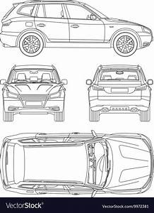 Vehicle Body Damage Inspection Diagram