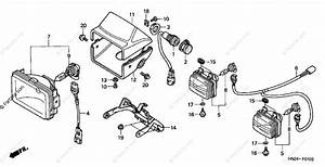 Honda Atv 2003 Oem Parts Diagram For Headlight  Trx500fa