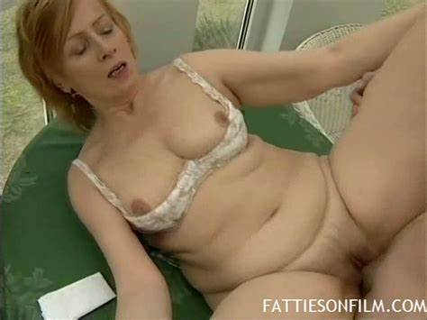 Grey Haired Redhead With Fuzzy Clit Moans And