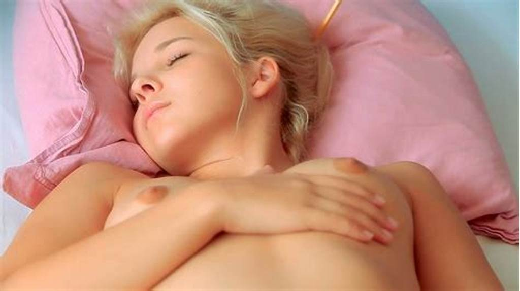 #Teen #Blonde #Monroe #Is #Lounging #And #Masturbating #Her