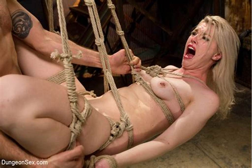 #Blonde #Sweetie #In #Rope #Bondage