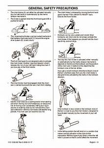 Husqvarna 435 435e 440e Chainsaw Owners Manual  2001 2002