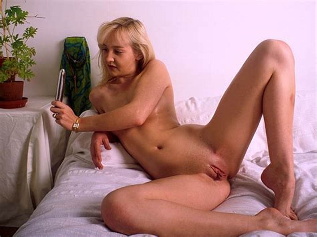 #Michelle #Flat #Chested #Blonde #Dildos #Herself #In #Bed