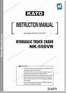 Kato Nk550vr Hydraulic Truck Crane Instruction Manual