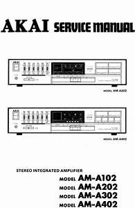Akai Am-a102   Amplifier   Original Service Manual