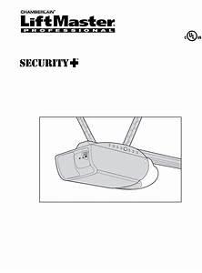 Liftmaster Security Garage Door Opener Manual