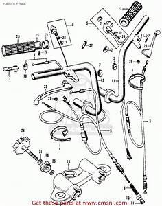 Honda Ct70h Trail 70h 1970 Ct70hk0 Usa Handlebar
