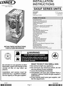 Lennox Furnace  Heater  Gas Manual L0806156