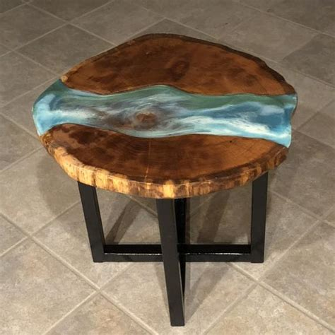 Epoxy tables & river tables for sale online at chagrin valley custom furniture   cvcf prices start at $1,900   the highest quality custom made resin & wood tables are handcrafted by cvcf. Live Edge Epoxy River Coffee Table SOLD   Etsy