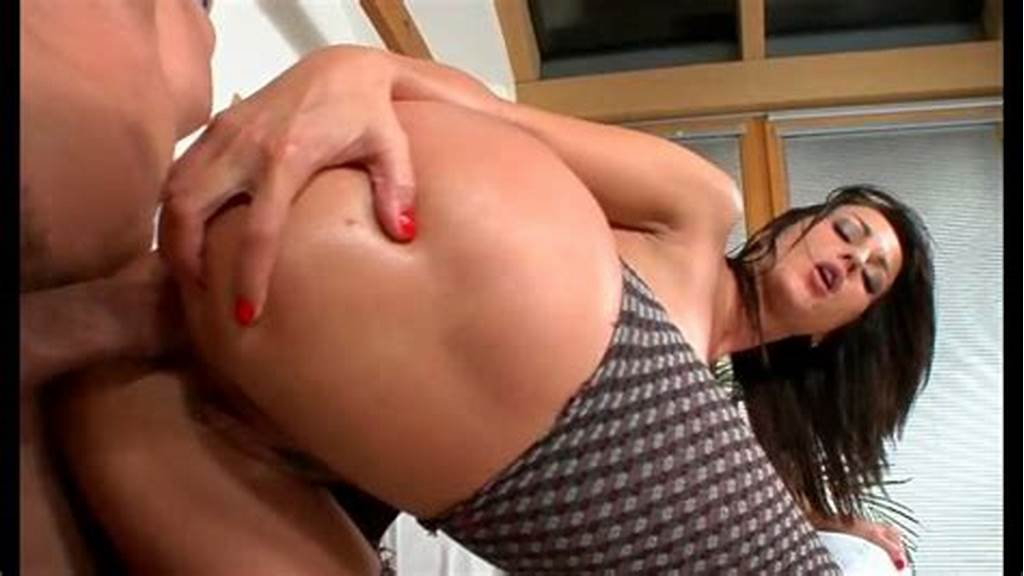 #Sultry #Brunette #Whore #With #Big #Ass #Gets #Anal #Fucked #In
