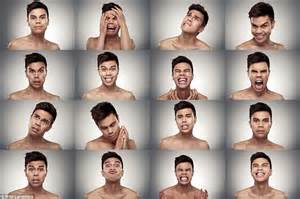 An emotional rollercoaster! Models scream, smile and scowl ...