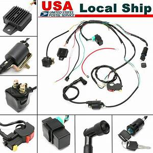 Cdi Wire Wiring Harness Assembly Kit Atv Electric Start