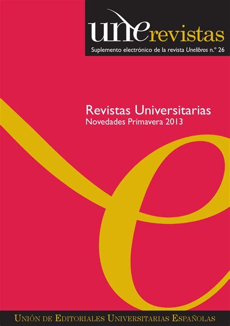 Unerevistas Primavera 2013 by Unión de Editoriales