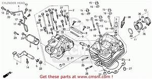 Honda Trx300 Fourtrax 300 1995  S  Usa Cylinder Head
