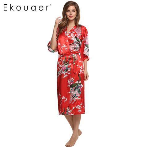 robe de chambre chaude femme aliexpress com buy satin kimono robe sleepwear