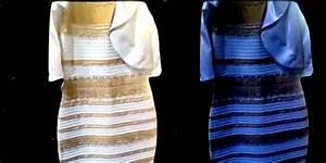 Robe bleu et noir illusion doptique robes elegantes for Robe bleu et noir illusion