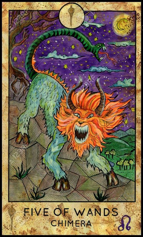 We did not find results for: Fantasy Creatures tarot 5 of wands   Tarot cards art, Tarot card meanings, Five of wands