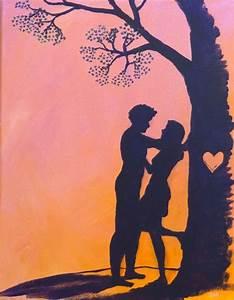 Video X Couple : cute romantic love couple silhouette valentine heart pink orange sunset acrylic painting 5 x 7 ~ Medecine-chirurgie-esthetiques.com Avis de Voitures