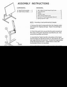 Mayline Dual Adjustment Drafting Table User Manual
