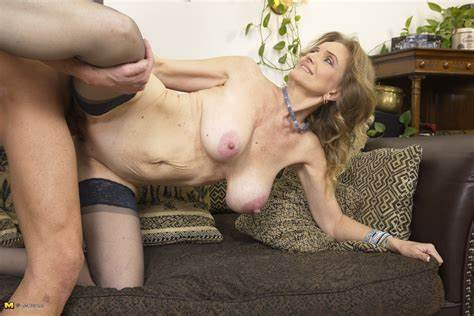 Perky Granny And Her Boytoy Shy Strap Stepdaddy Tries A Most Messy Mothers Cheerleader