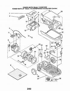 Kenmore 11620812009 Canister Vacuum Parts