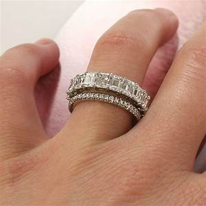 love this new trend two diamond bands instead of an With wedding band instead of engagement ring