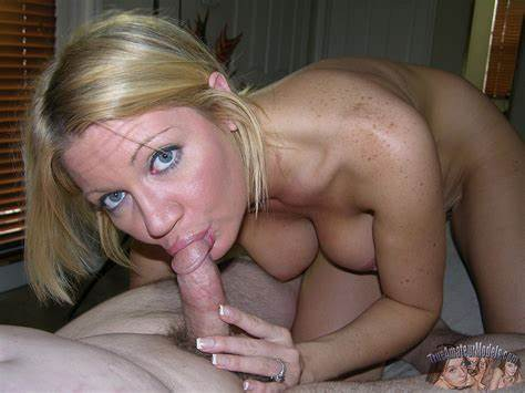 Blue Haired Facials Tough Housewife Milf