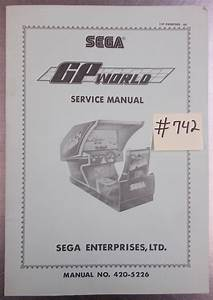 Gp World Arcade Machine Game Service Manual  742 For Sale