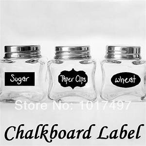 hot cute chalkboard sticker labels vinyl kitchen pantry With best brand of paint for kitchen cabinets with packaging labels stickers