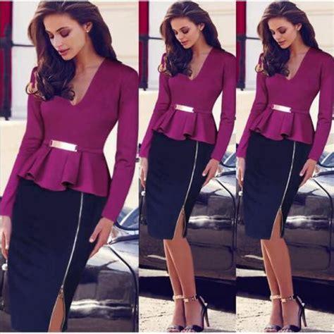 vetement femme pour bureau robe femme vetement dame de bureau violet prix 45 00
