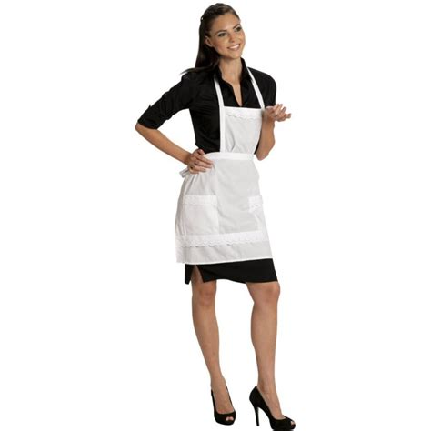 tenue de femme de chambre tablier de service pour grand hotel ou café