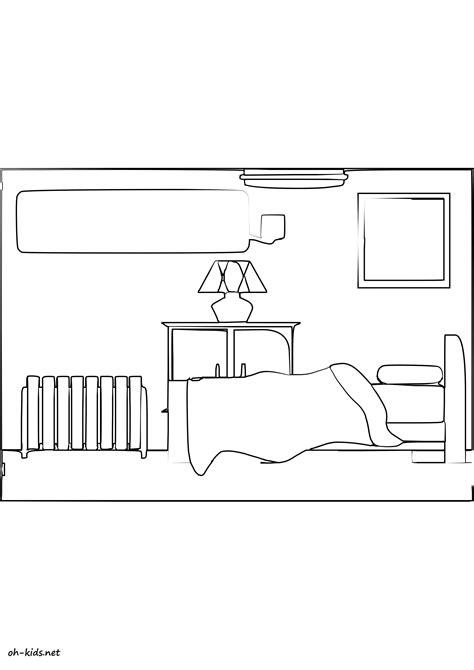 dessin de chambre coloriage chambre oh fr