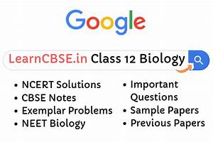 Ncert Solutions For Class 12 Biology  Updated For 2019