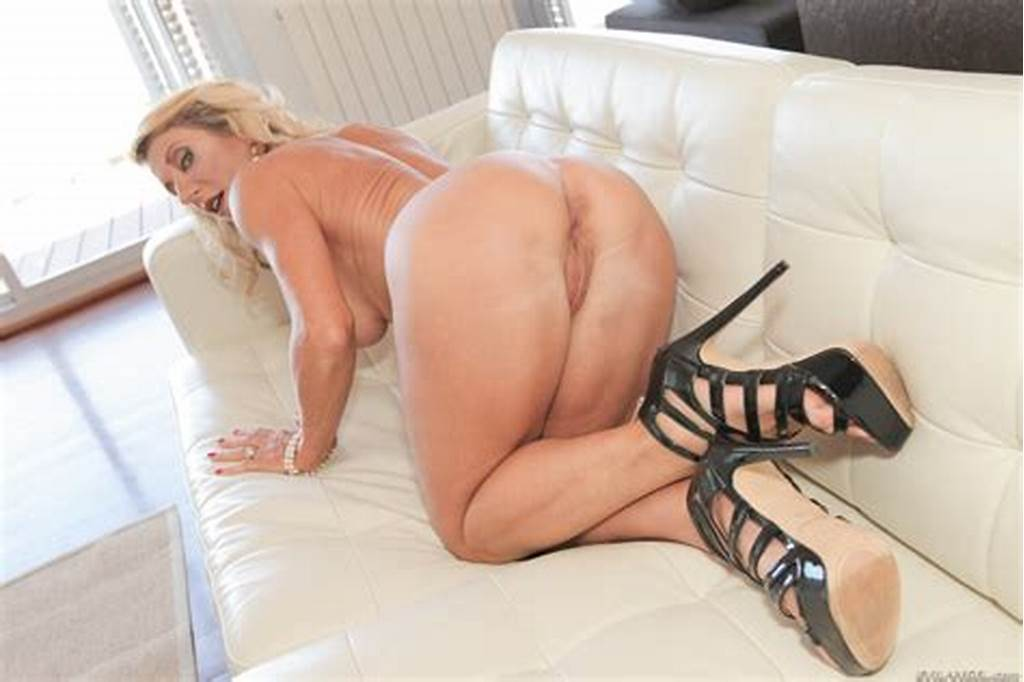#Blonde #Milf #Marina #Beaulieu #Removes #White #Lingerie #For